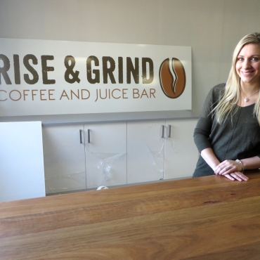 Rise & Grind: Our own coffee & juice bar