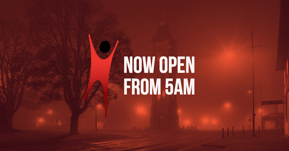 Gym now open to members from 5am